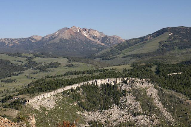 Wide shot of Electric Peak