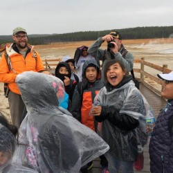 4th Graders from Wind River Indian Reservation Experience Yellowstone