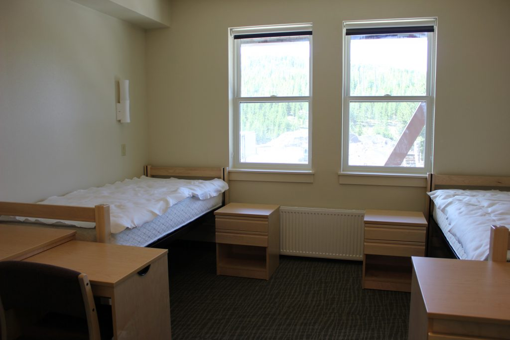 2 bed dormitory with 2 windows