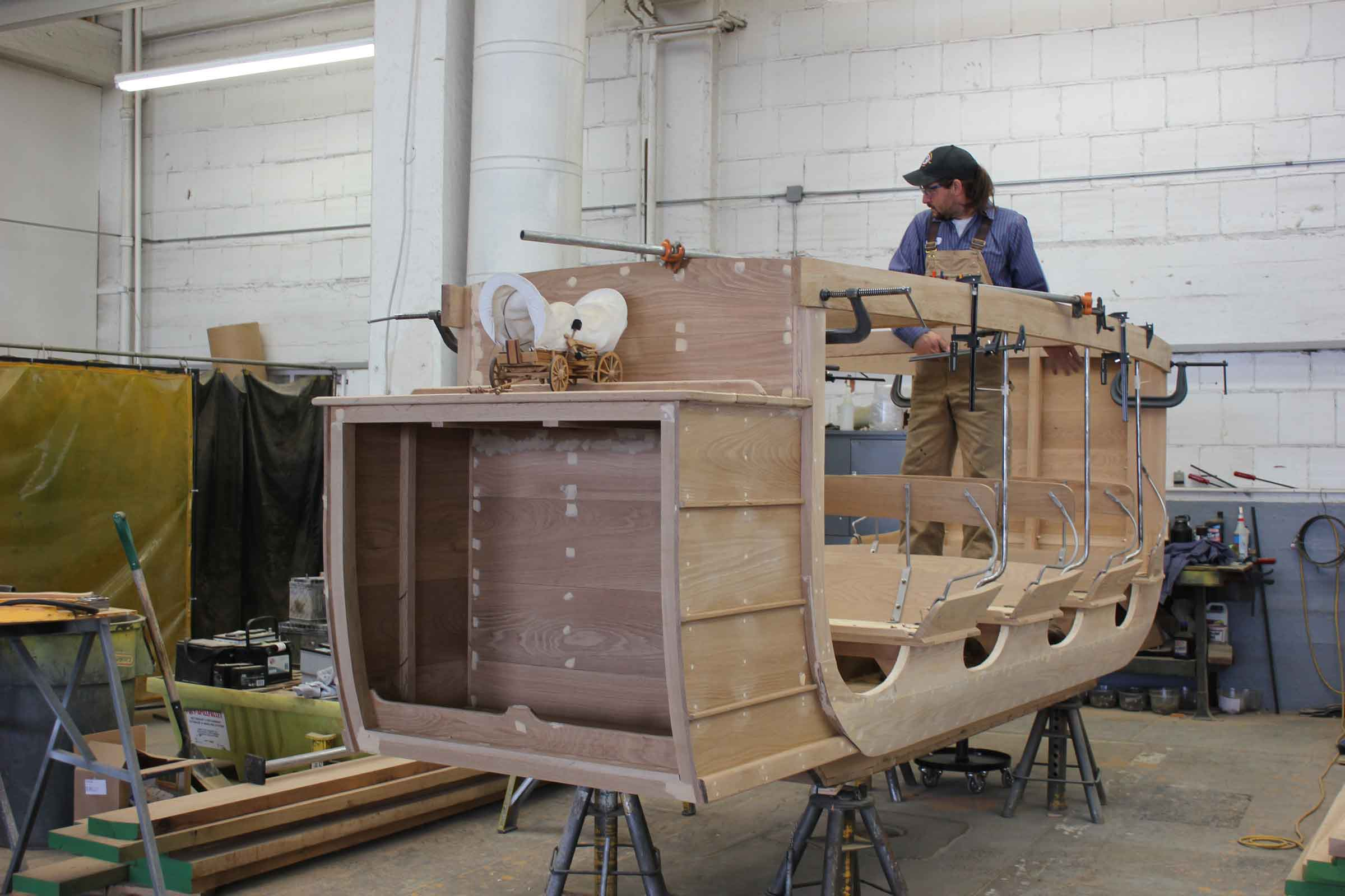 Stagecoach being built