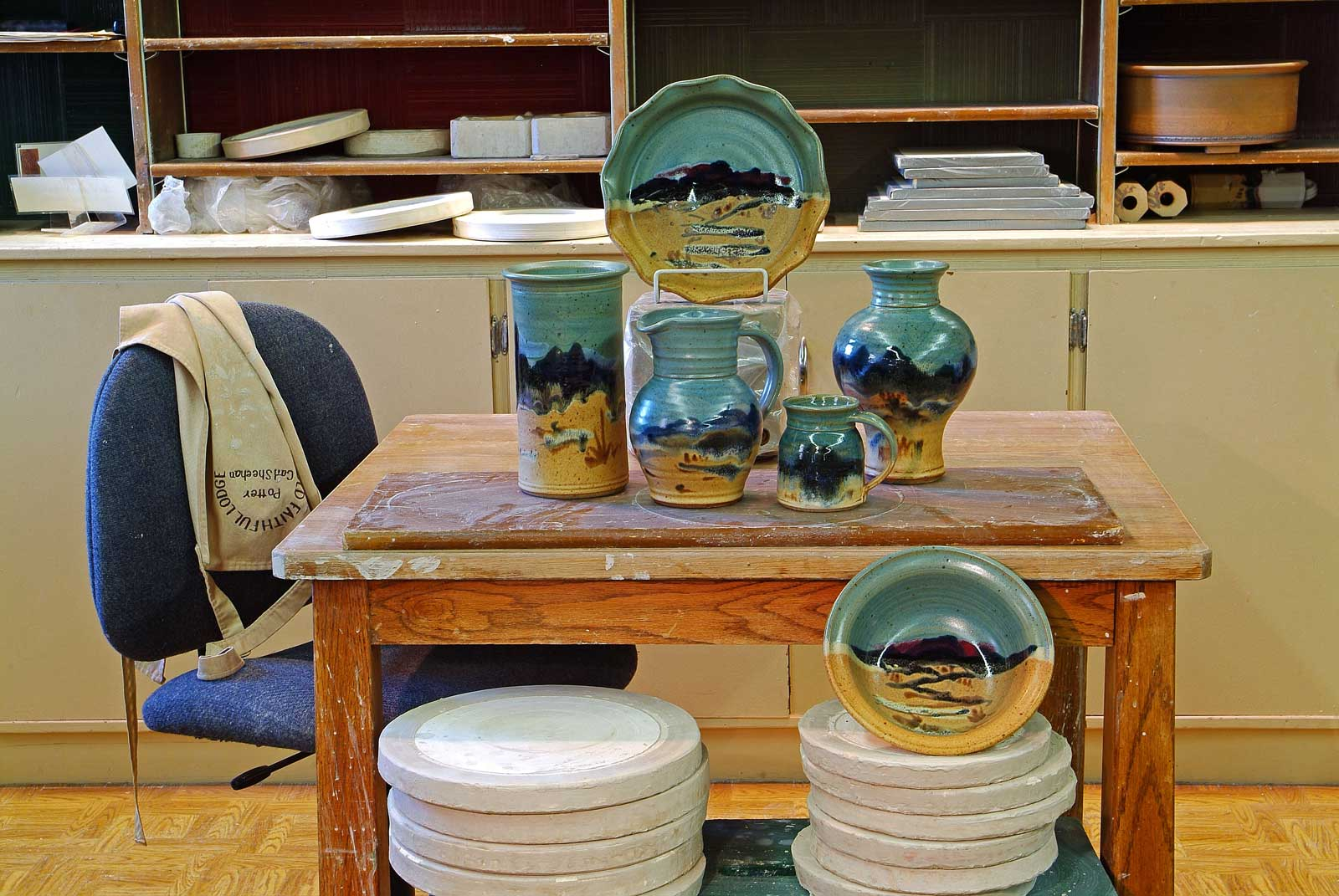 Pottery gift shop