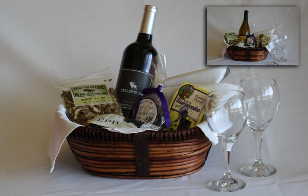Red or White Wine Basket