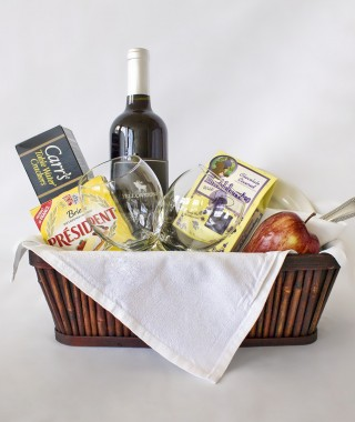 Red Wine and Cheese Basket