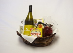 White Wine and Cheese Basket