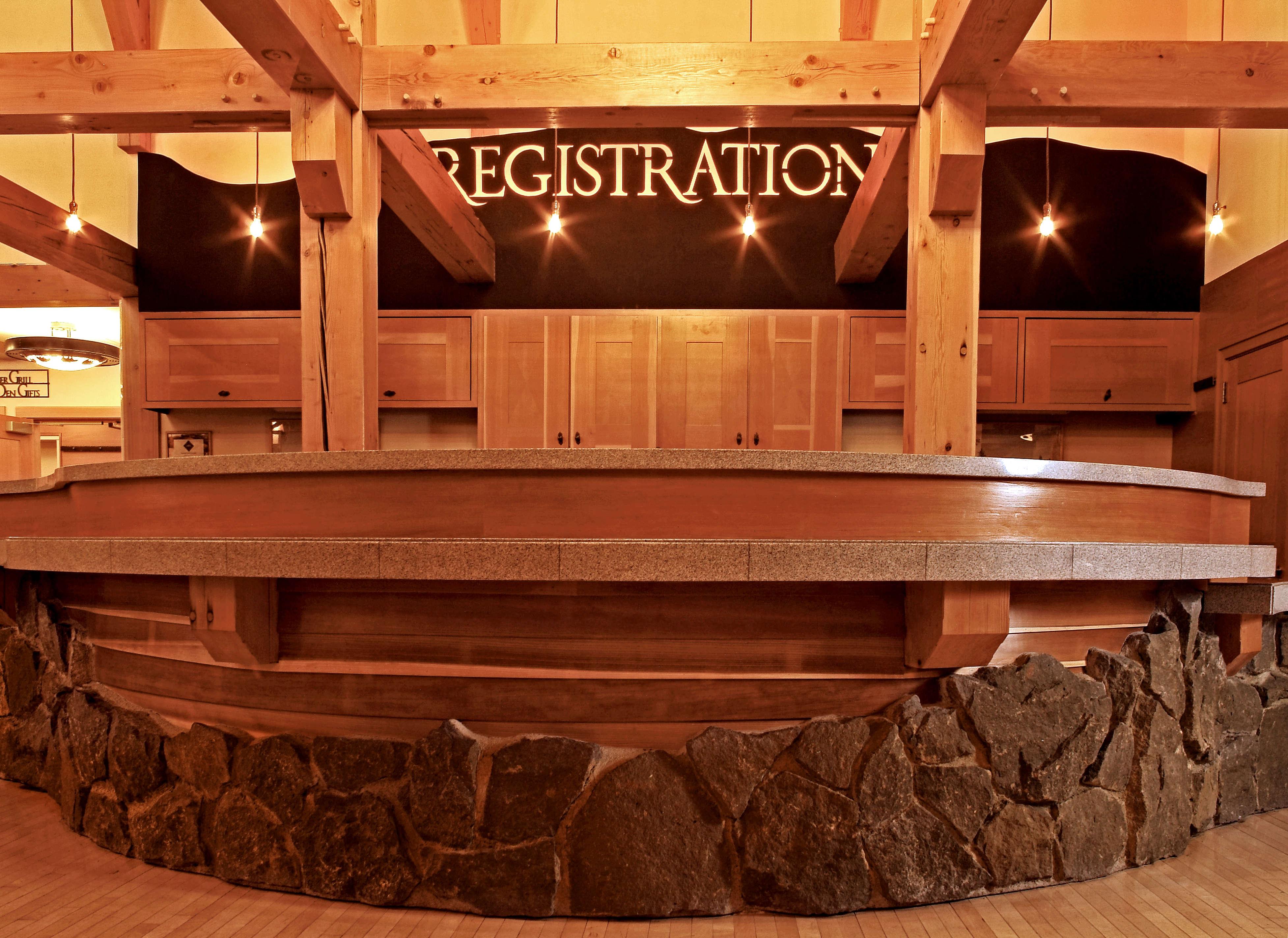 Old Faithful Snow Lodge lobby registration
