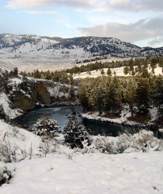 Yellowstone River scenic shot