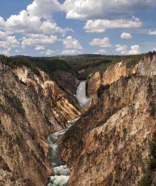 Lower Falls and Grand Canyon of the Yellowstone.