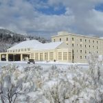 Mammoth Hot Springs Hotel in winter