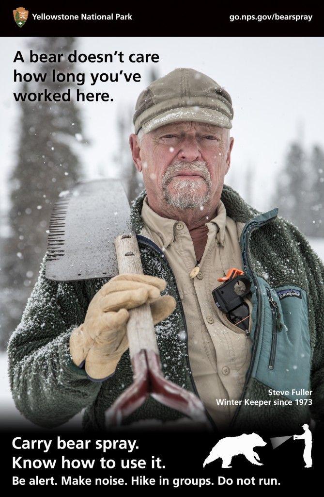 Winterkeeper Steve Fuller Yellowstone National Park A Bear Doesn't Care Poster