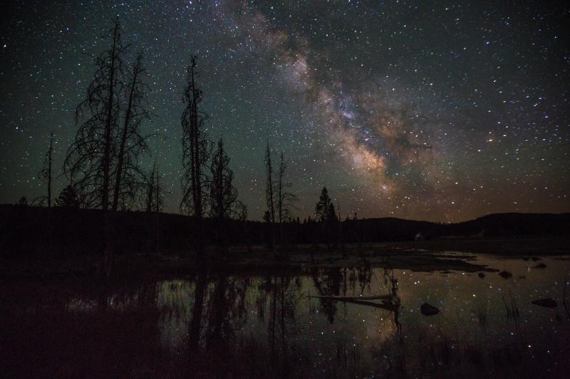 Night Milkyway Yellowstone