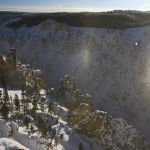 Sun dog over the Grand Canyon of the Yellowstone