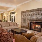 Fireplace at Lake Yellowstone Hotel