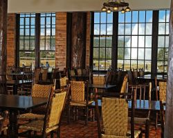 View of Old Faithful Lodge Cafeteria Sitting Area