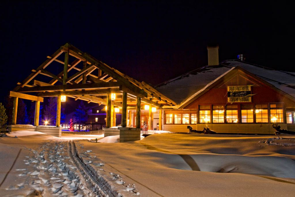 Old Faithful Snow Lodge Winter Exterior