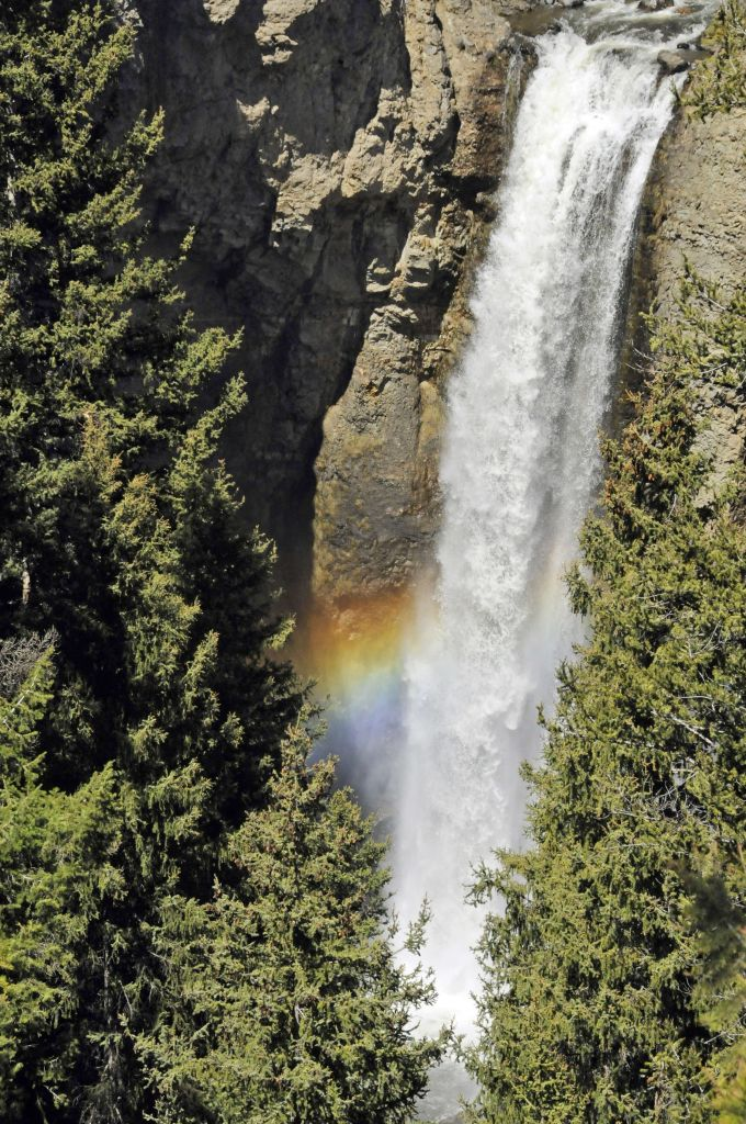 Tower Fall with rainbow