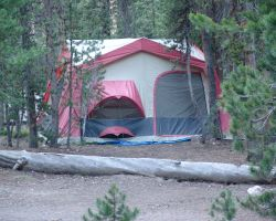 Tent at Canyon Campground