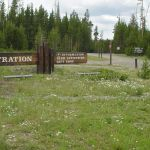 Registration sign at Grant Village Campground