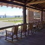 Rocking chair view at Lake Lodge
