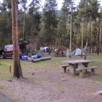 Tent setup at Madison Campground