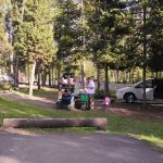 Family picnic at Madison Campground