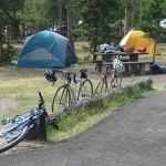 Bikes and tents at Madison Campground