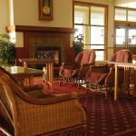 Mammoth Hot Springs Hotel Winter - Lobby
