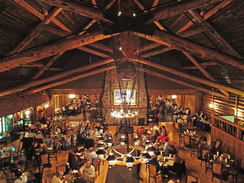 Old Faithful Inn Dining Room Yellowstone National Park