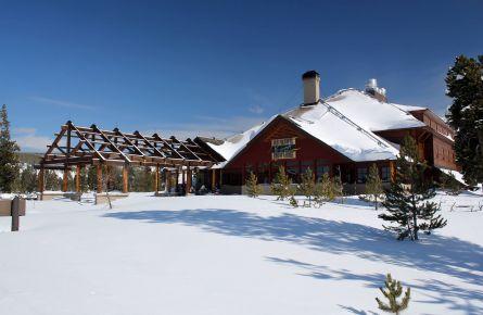 Old Faithful Snow Lodge Exterior Winter