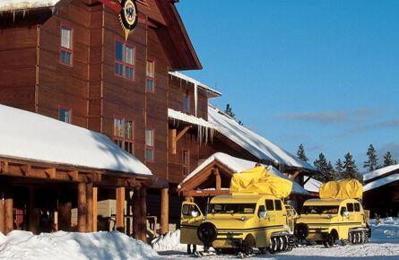 Transportation waiting at Snow Lodge