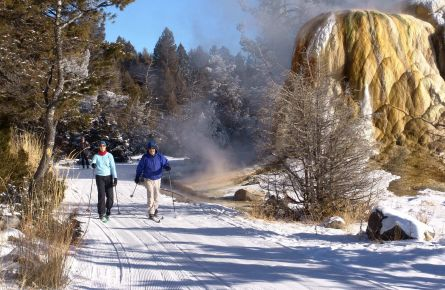 Two Cross-country Skiers At Mammoth