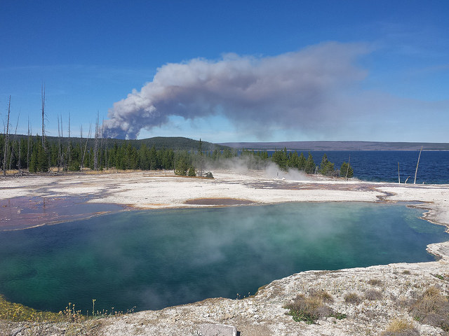 Spruce Fire from West Thumb
