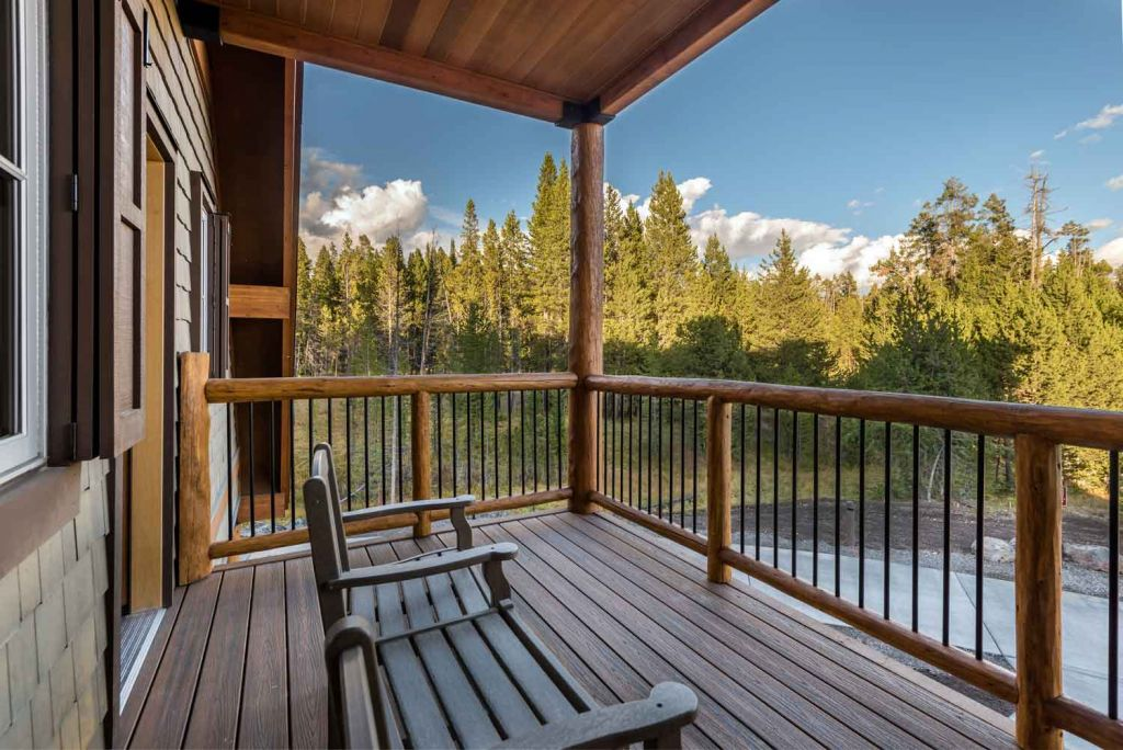 Canyon lodge deck