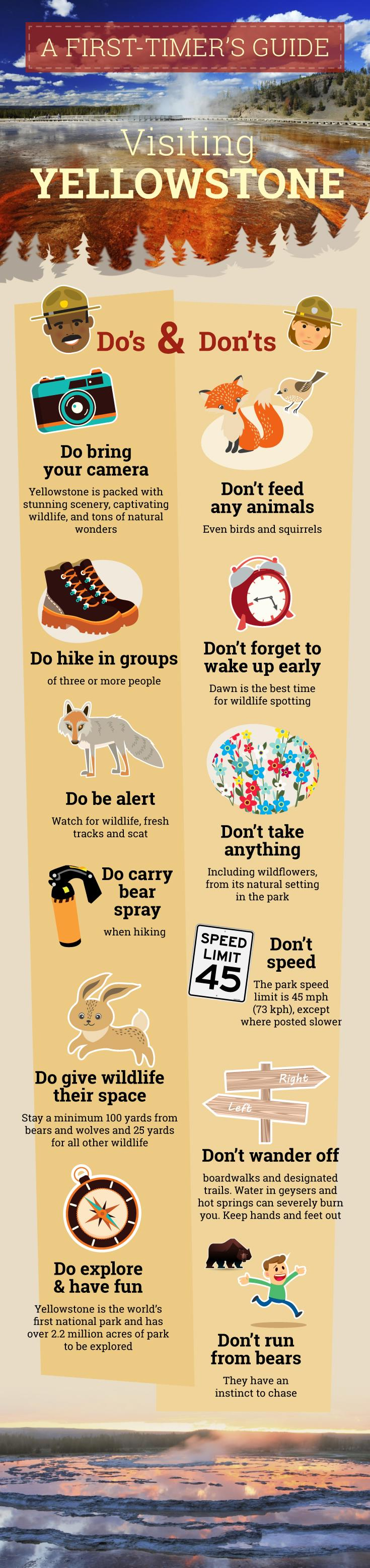 Yellowstone Guide - Do's and Don'ts