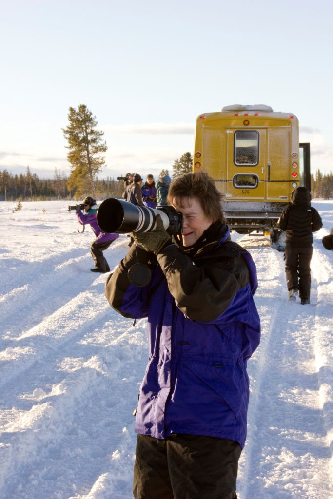 Photographers on the Fire and Ice Photo Tour