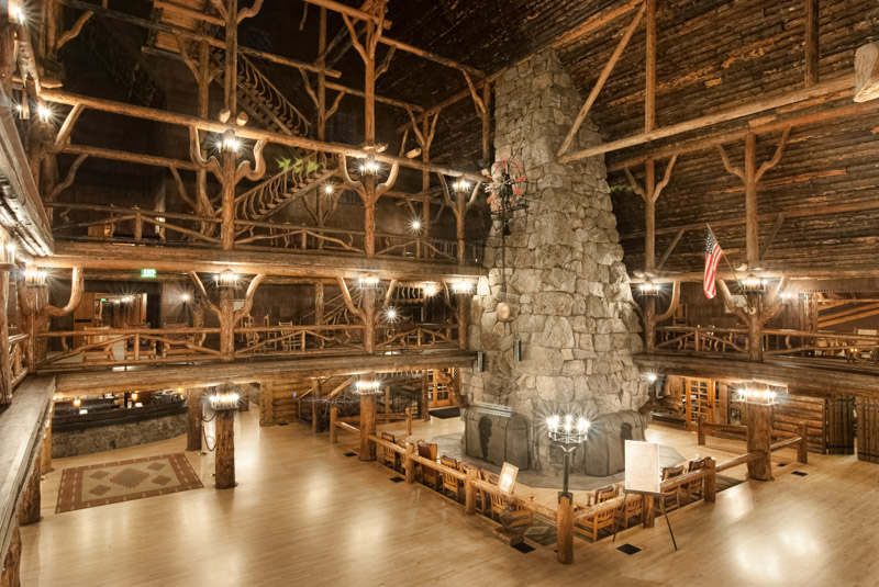 Old Faithful Inn Interior Lobby