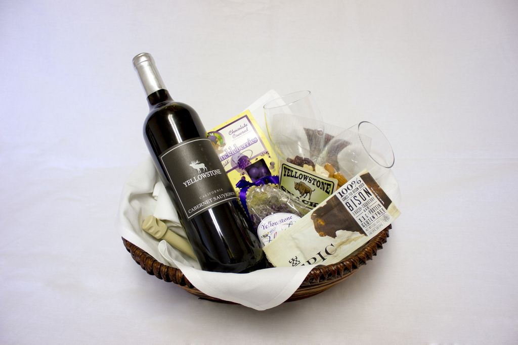 In room gift baskets yellowstone national park lodges negle Choice Image