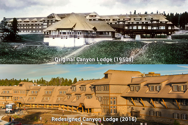 Canyon Lodge in the 1950s versus Canyon Lodge in 2016