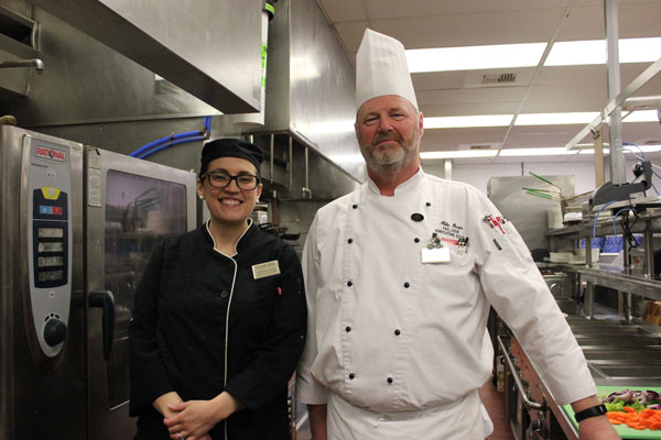 Executive Chef Mike Dean and Sous Chef Katie Bertelsbeck
