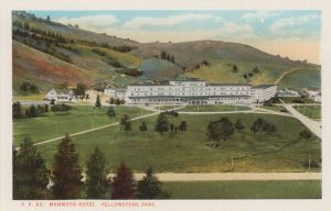 historic postcard mammoth hotel yellowstone national park