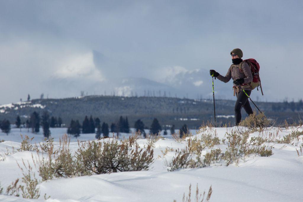 Skiing on Blacktail Deer Plateau