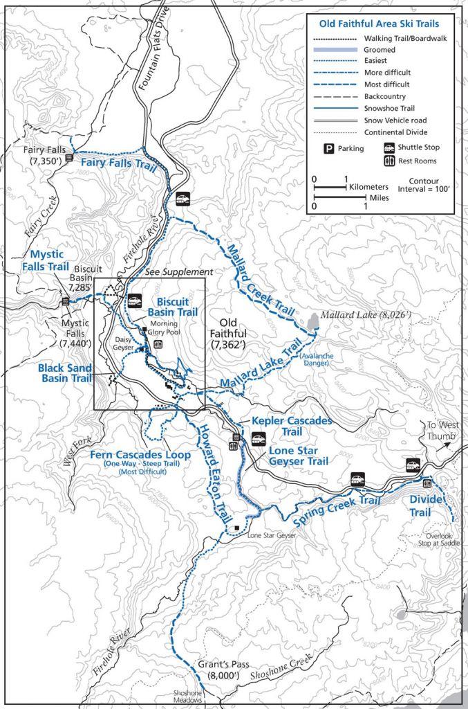 Old Faithful Ski Trails   Yellowstone National Park Lodges