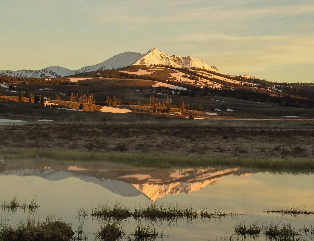 Electric Peak Sunrise Reflection on Swan Lake Flats
