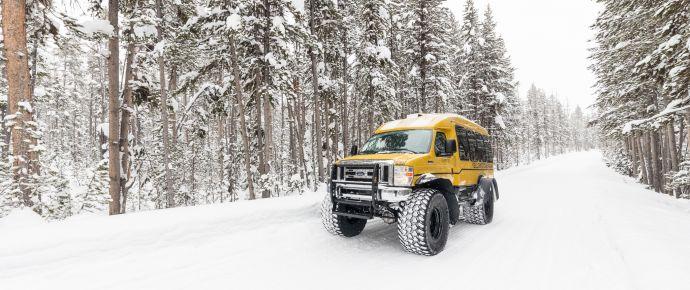 Snowcoach Winter Yellowstone