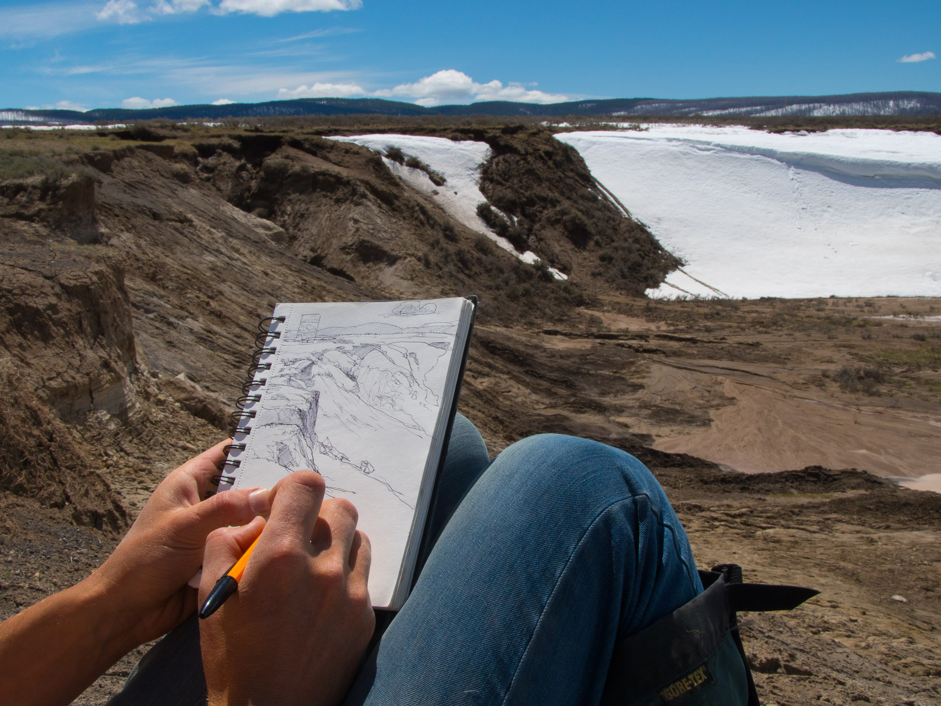 Sketching in Yellowstone