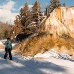 Skier near Orange Spring Mound