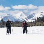 Skiers break trail in Gardners Hole