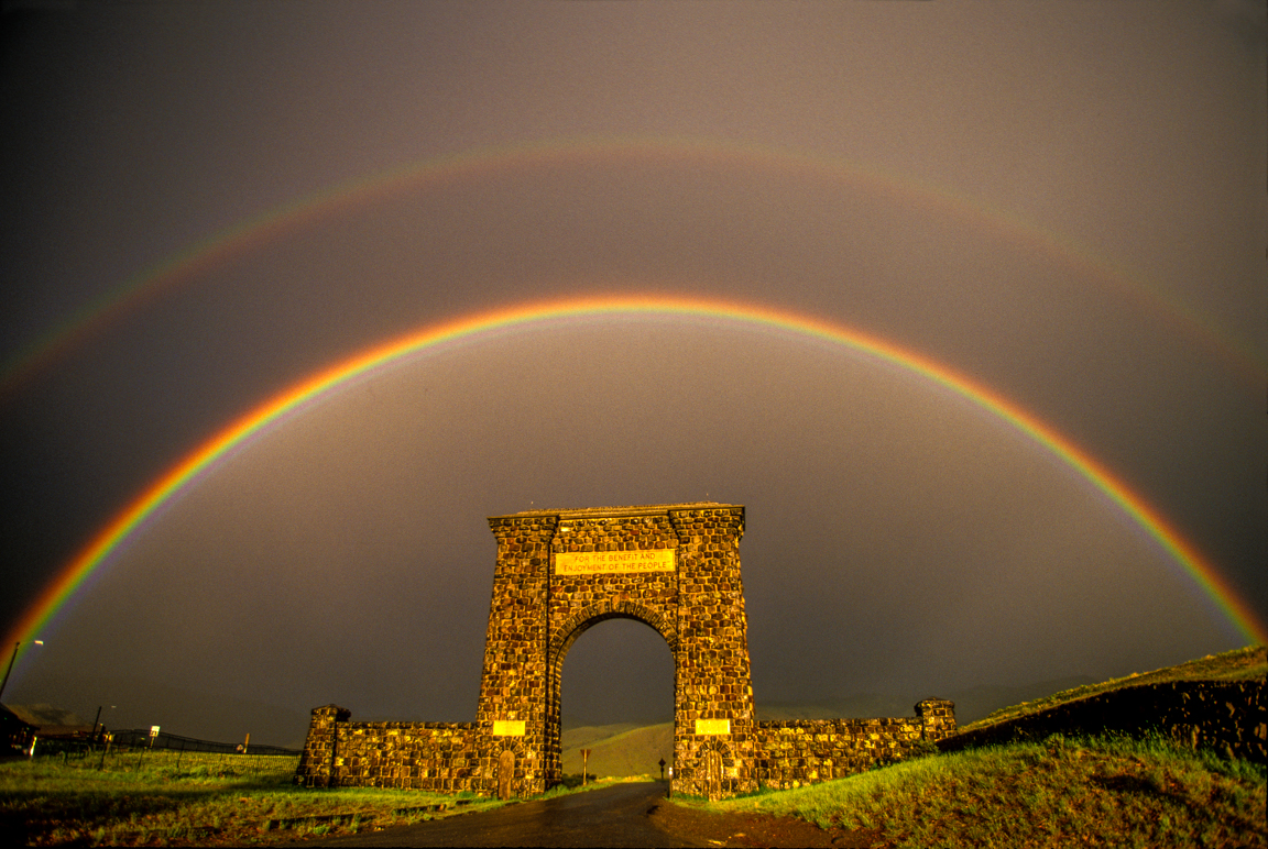 Tom Murphy Roosevelt Arch and Rainbow