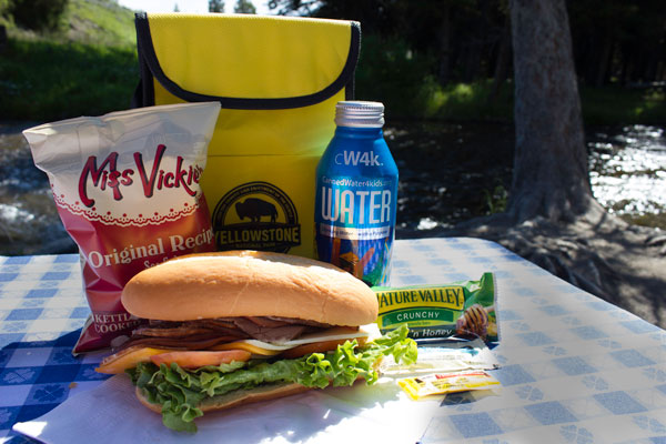 Picnic in Yellowstone National Park