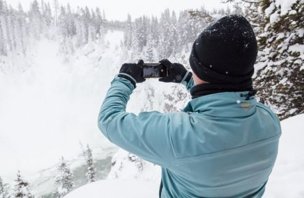 Photographing Upper Falls in Winter