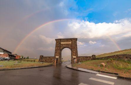 Double rainbow over Roosevelt Arch